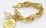 Goldpompominitialbracelet