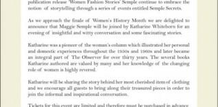 Semple Secrets – Legendary Columnist Katharine Whitehorn