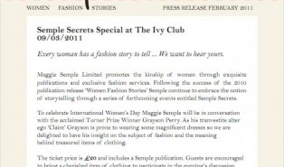 Semple Secrets Special At the Ivy Club with Grayson Perry
