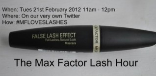 The Max Factor Lash Hour. Chat to the Lash Experts and Win False Lash Effect