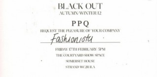 CLOSED. WIN FRONT ROW TICKETS TO PPQ AT LONDON FASHION WEEK. CLOSED.