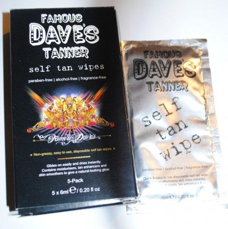 Famous Dave Self Tan Wipes