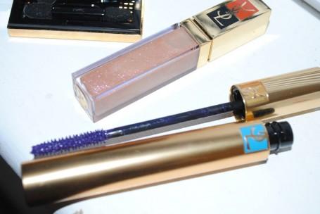YSL Golden Gloss No 54 Golden Sand YSL False Lash Effect Mascara Waterproof No3 Signature Violet
