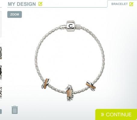 Chamilia Silver Bracelet with Swarovski Beads