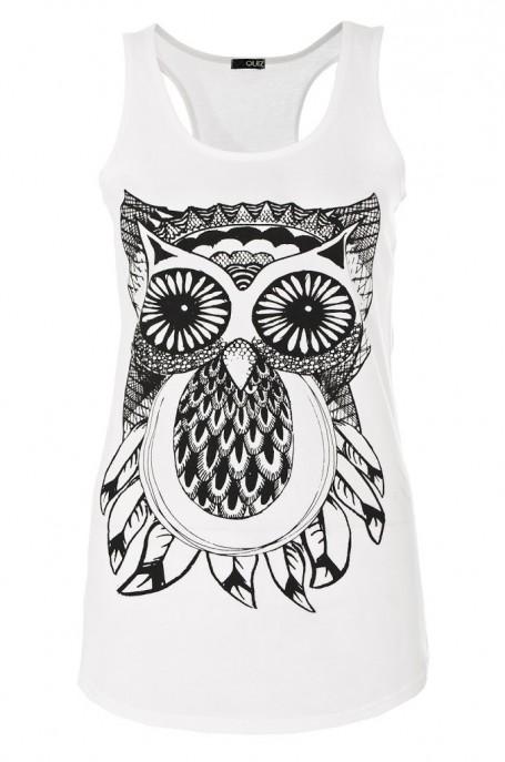Owl Print Top