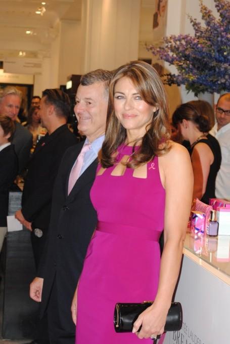 Elizabeth Hurley at Selfridges for Breast Cancer Awareness