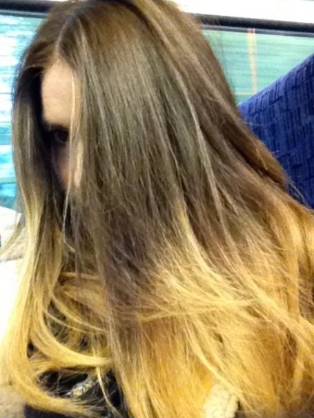 ombre+dip+dye+hair+l'oreal