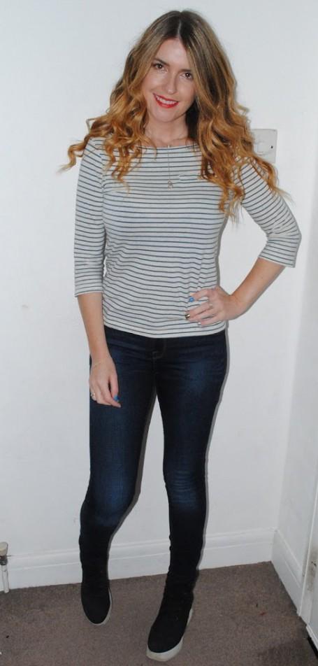 OOTD- Zara Jeans, NW3 Tee, ASOS Hi Tops