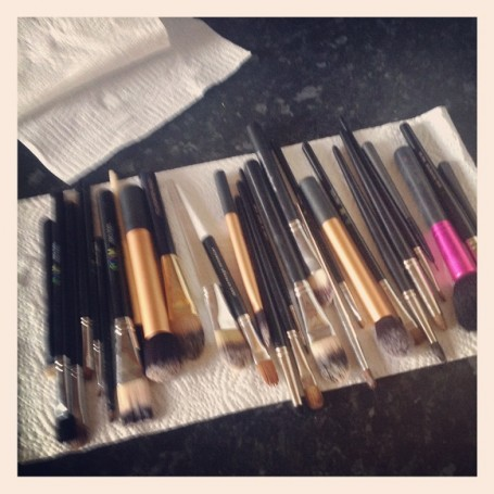 cleaning+makeup+brushes