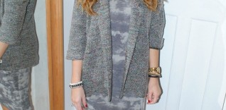 River Island Midi Dress and Boucle Jacket – Boxing Day Outfit