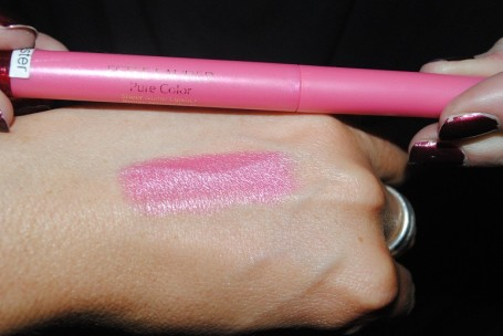 estee+lauder+pure+color+sheer+matte+lipstick+demure+swatch