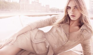 Cara Delevingne and Burberry Body Tender