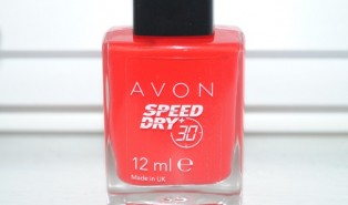 Avon Speed Dry + Nail Polish Review – Reddy to Go Swatch