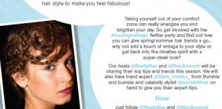 Reminder! Spring Summer Hair Trends Twitter Party: #BootsGiveItAGo