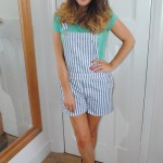 Outfit: ASOS Stripe Shorts Dungarees