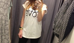 Fashion Target Breast Cancer Topshop LOVE Tee