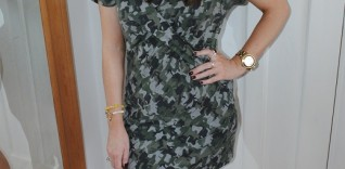 Outfit: Karl Lagerfeld Camouflage T-Shirt Dress