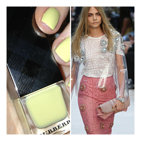 burberry-ss14-cara-nails-pale-yellow