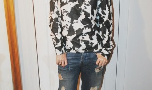 Outfit: ASOS Cow Hide Print Sweatshirt