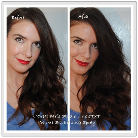l'oreal-studio-line-txt-volume-supersizing-spray-before-after