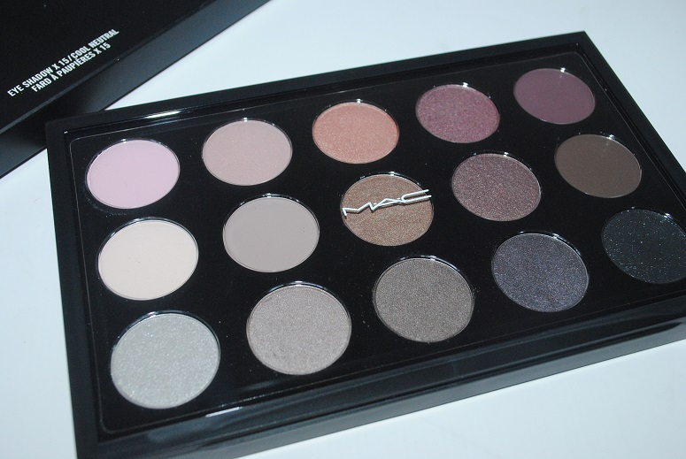 MAC Eyeshadow X 15 Cool Neutral Palette Review Swatches Eye Look. - Really Ree