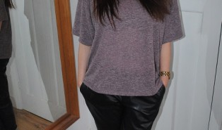 Zara Leather Look Trousers Outfit of the Day