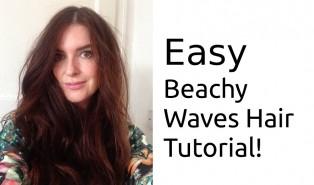Easy Beachy Waves Hair Tutorial Video