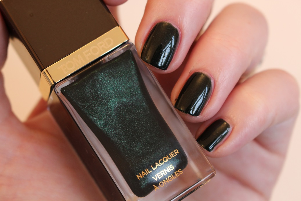 Tom Ford Nail Lacquer Black Jade Swatch - Really Ree