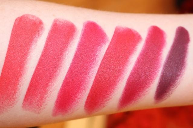 свотчи Dolce & Gabbana Matte Lipstick swatches