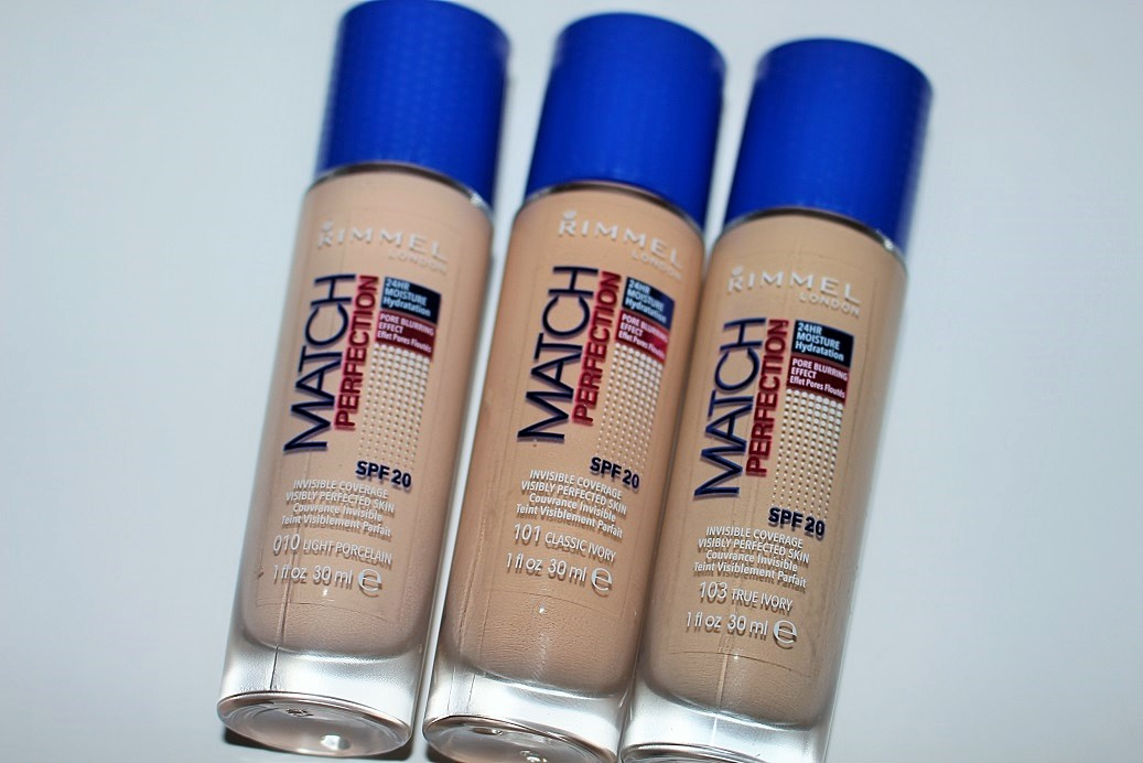 Rimmel New Match Perfection Foundation Swatches