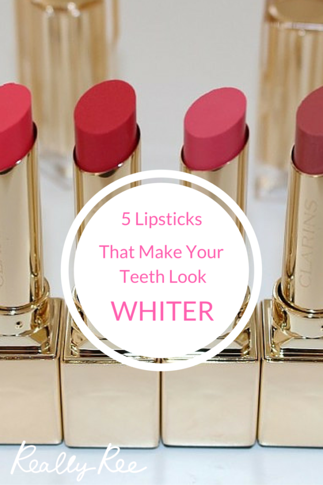 Everyone wants their teeth to look whiter! If you want white teeth without bleaching them here's our guide to 5 lipsticks that make your teeth look whiter. Please click through to read the article and repin!