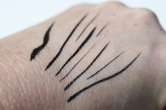 bareminerals lash domination ink liner swatch