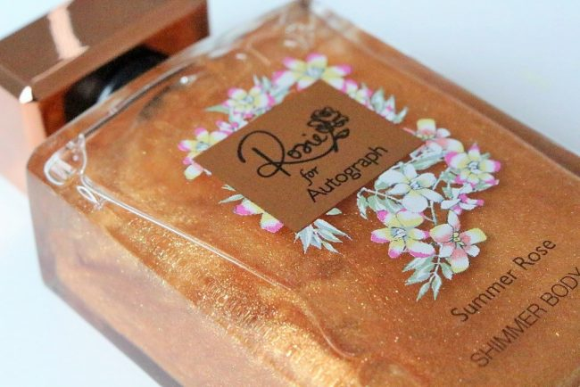 rosie for autograph summer rose shimmer body oil