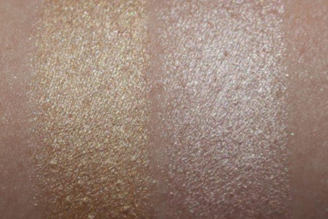 Skin Fetish 003 Swatches Golden & Nude Highlighter