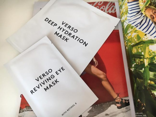 Verso Deep Hydration Mask & Reviving Eye Mask