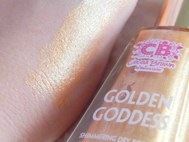 Cocoa Brown Golden Goddess Oil swatch