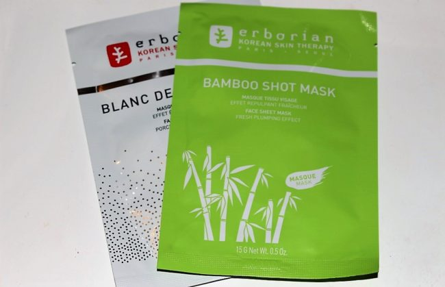 Erborian Shot Masks