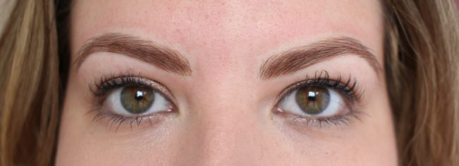 eyebrows-just-after microblading