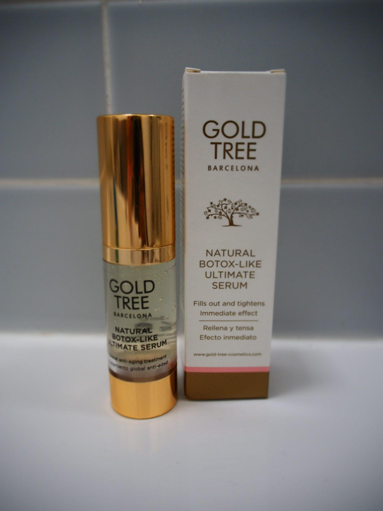 Gold tree natural Botox like ultimate serum review- packaging