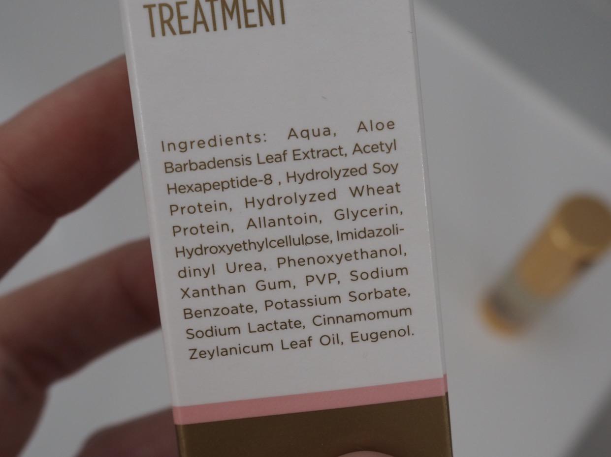 Gold Tree Natural Botox-Like Serum- ingredients