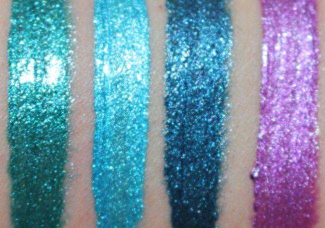 NYX Cosmic Metal Lip Cream Swatches
