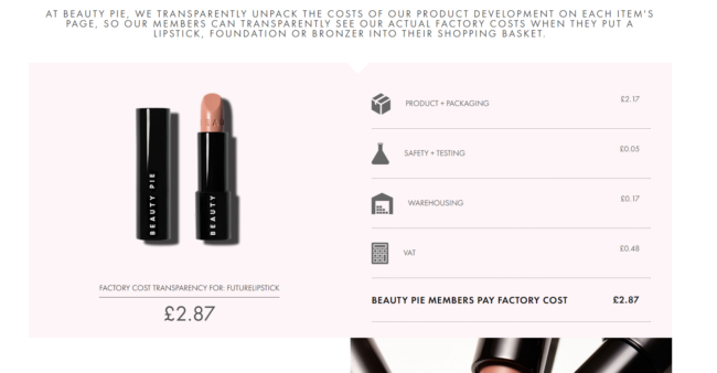 Beauty Pie Pricing