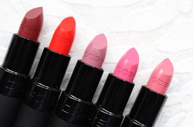 Gosh Velvet Touch Matte Lipsticks