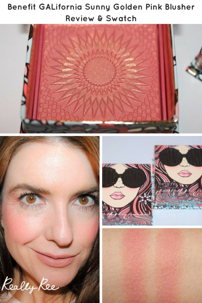 Pink and gold perfection? You will find it in the new and beautiful Benefit GALifornia Sunny Golden Pink Blusher. I have photos and swatches here.
