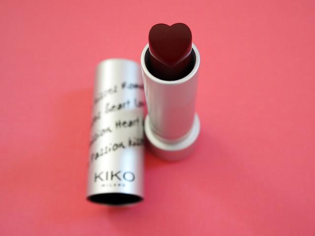 Date night makeup Kiko Heart Shaped Lipstick in shade 04
