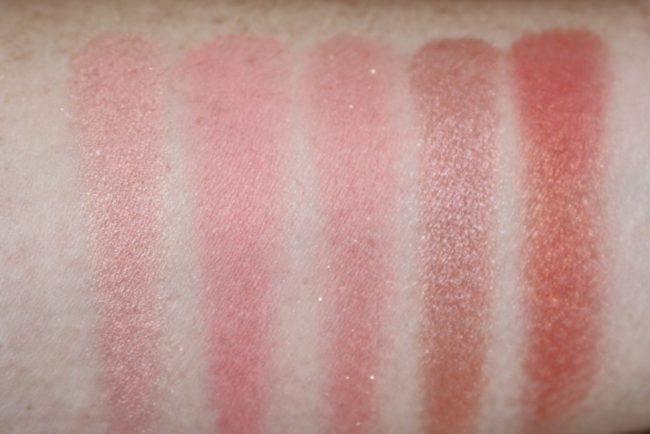 L'Oreal Infallible Blush Paint Palette - The Ambers Swatches