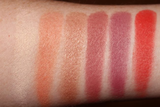 NARS NARSissist Unfiltered I Cheek Palette Swatches