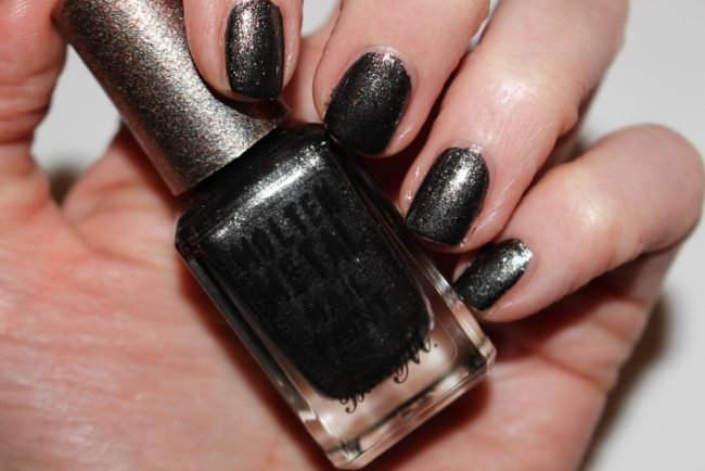 Barry m molten metal nail paint spring 2017 swatches for Black paint swatch