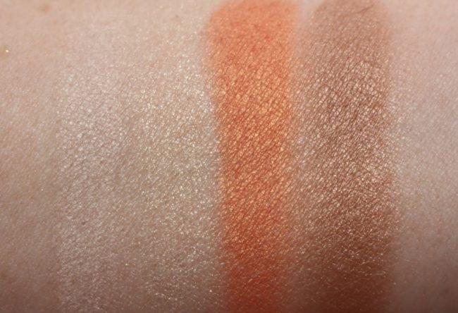Clarins Summer 2017 Eyeshadow Palette Swatches (dry)