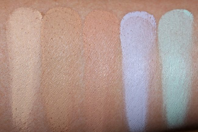 L'Oreal Infallible Total Cover Concealer Palette Swatches